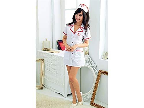Hot Kostüm Maid - Performance-Kleidung Dessous Maid Cosplay Sexy Uniform Krankenschwester Rollenspiel Anzug Versuchung Krankenschwester Uniform Hot Krankenschwester Uniformen Nachtwäsche Set_ (Weiß) Sexy Kostüm