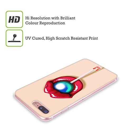 Head Case Designs Bianco E Nero Serie Zip It 2 Cover Retro Rigida per Apple iPhone 7 / iPhone 8 Lecca Lecca