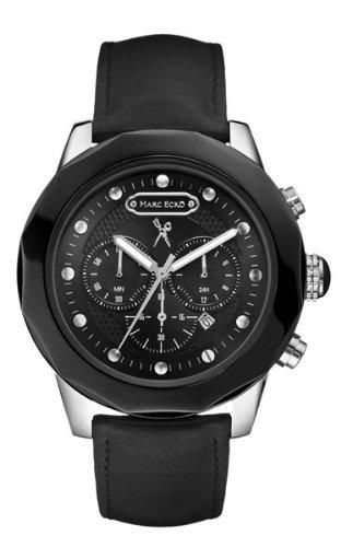 Marc Ecko E21584G1 - Reloj analógico de cuarzo para hombre con correa de piel, color negro