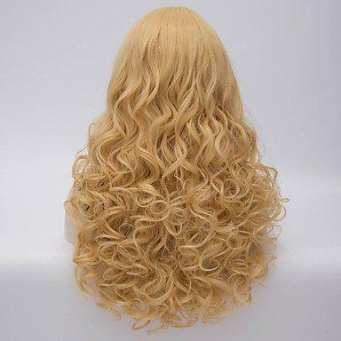 OOFAY JF-heißer Verkauf charmante blonde lange wellenförmige Körper Kostüm Perücke schöne synthetische Haarperücken , (Heiße Kostüm Tasche)