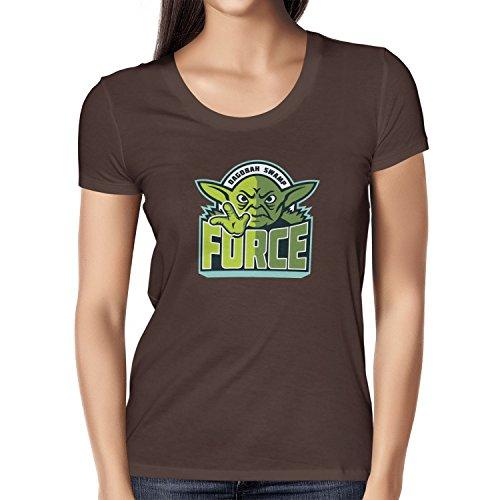 TEXLAB - Dagobah Swamp Force - Damen T-Shirt Braun