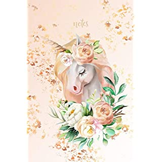 notes: Beautiful Vintage Unicorn College Ruled notebook 6 x 9