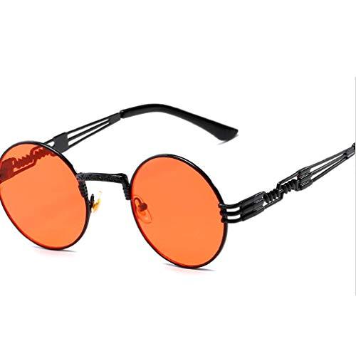 Polarisierte Sonnenbrillen für Damen, Runde polarisierte Steampunk Sonnenbrillen Retro Sonnenbrillen für Frauen,A