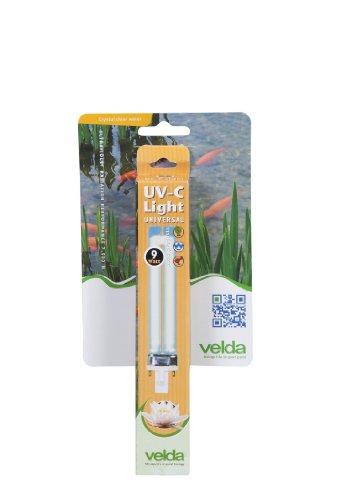 Velda 126615 Ersatz-UV-C Lampe für Elektronische Entferner gegen Grünalgen im Teich, UV-C PL Lampe 9 Watt