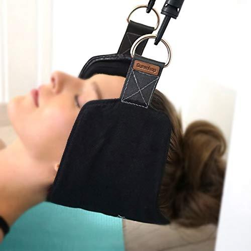 Surenhap Hals Hängematte, Neck Hammock für Hals Kopf Nacken Massagegerät Entspannung Schmerzlinderung Hängematte Massager (A : Schwamm abnehmbar)