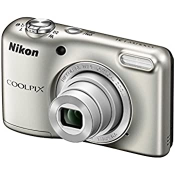 Nikon Coolpix L31 16.1MP Point And Shoot Digital Camera (Silver) with 5x Optical Zoom, 8GB Memory card and Camera Case