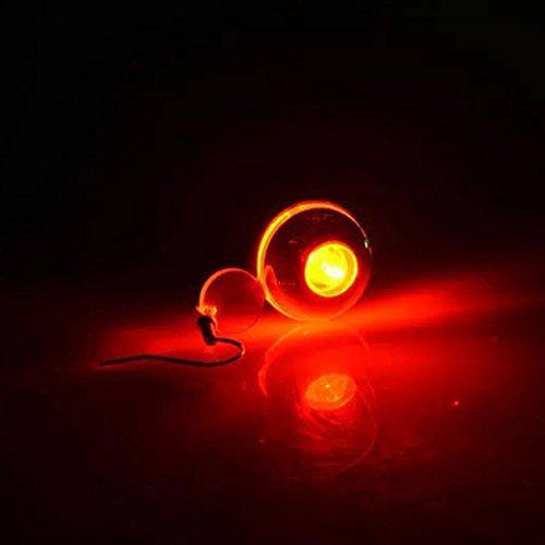 QHGstore 1pc LED Ohrringe Drei Overlap Runde Glühend leuchten Ohrstecker Rot