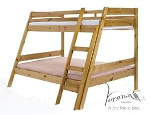 """Design Vicence """"marileva Triple lit superposé, en bois, pin antique, simple"""