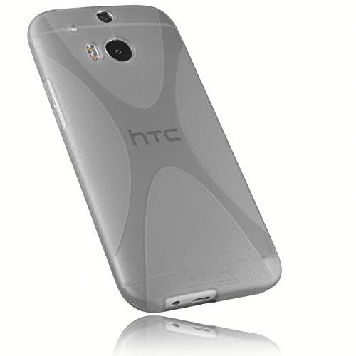 mumbi X-TPU Schutzhülle für HTC One M8 / M8s Hülle transparent schwarz