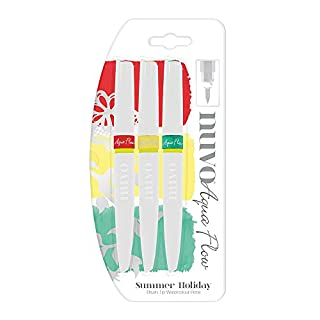 Nuvo by Tonic Studios Aqua Flow 3 Pack - Sommer Feiertag Other Multicoloured 15.0 x 1.0 x 1.0 cm
