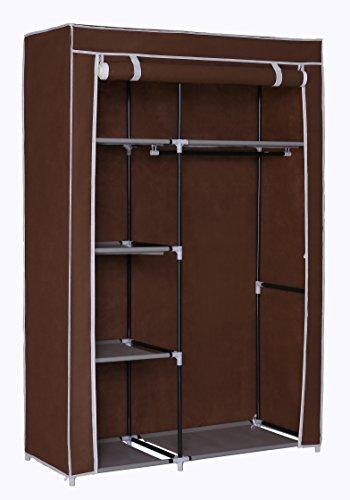 Mulsh portátil organizador de almacenaje de ropa de armario con estantes de...
