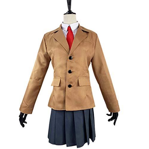 Anime Youth Campus Charakter Braun Anzug Tops und Kurze Röcke Rollenspiel Kostüm Cosplay,Suit-S