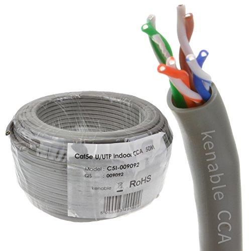 Ethernet UTP CCA Kabel Roll Netzwerk LAN Solid UTP CAT5e CCA Grey 50 m