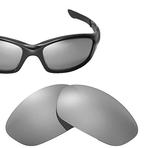 Cofery Ersatzgläser für Oakley Straight Jacket Sonnenbrille - Verschiedene Optionen erhältlich, Unisex, Titanium - Non Polarized, Einheitsgröße