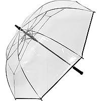 Parapluie de golf automatique Taille XXL 124 cm de diametre Transparent