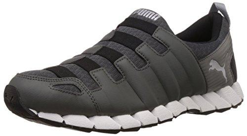 Puma Men's Osu v4 DP Dark Shadow, Black and Puma Silver Mesh Running Shoes - 8 UK