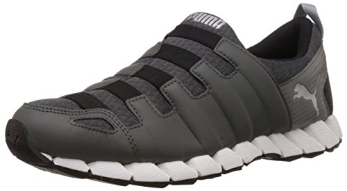 Puma Men's Osu v4 DP Dark Shadow, Black and Puma Silver Mesh Running Shoes - 7 UK/India (40.5 EU)