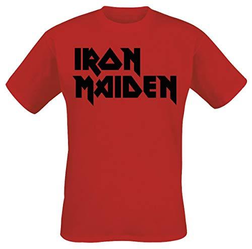 Iron Maiden Classic Logo Camiseta Rojo L