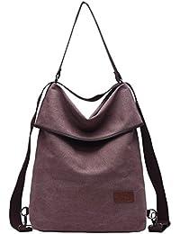 Travistar Damen Canvas Schultertasche Rucksack Groß Handtasche Vintage Damen Umhängentasche Anti Diebstahl Tasche Damen Hobo Tasche für Alltag Büro Schule Ausflug Einkauf