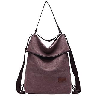 41Z7sBhGDbL. SS324  - Travistar Bolsos Mujer Mochilas-Vintage Bolsos Bandolera Grandes Multifuncional Lona Tipo Casual