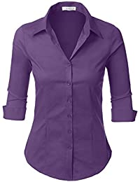Amazon.co.uk: Purple - Blouses & Shirts / Women: Clothing