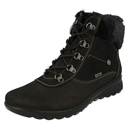 Van Dal Shoes Womens Kisco Boots in Black Nubuck
