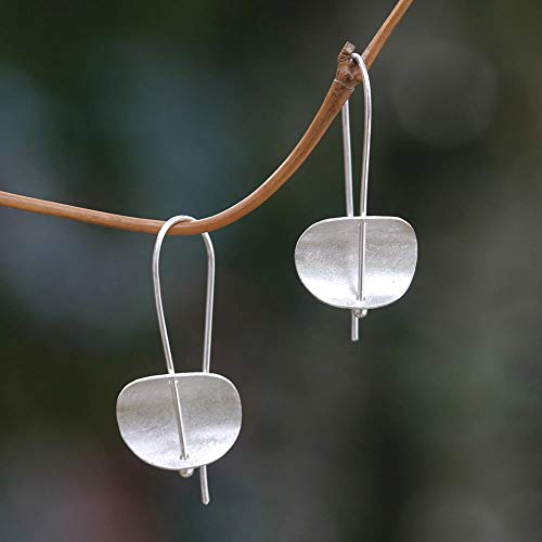 Ohrringe für Damen, Kreative Frauen Minimalismus, konkav, Metall, Haken, Ohrringe, Bankett, Party-Schmuck - Silber (Herren-diamant-cluster-ohrringe)