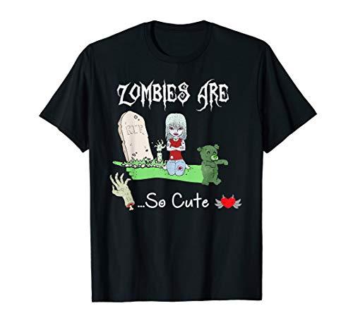 Süßes Zombie-Shirt, Goth Rock Punk, I Love Zombie Halloween T-Shirt