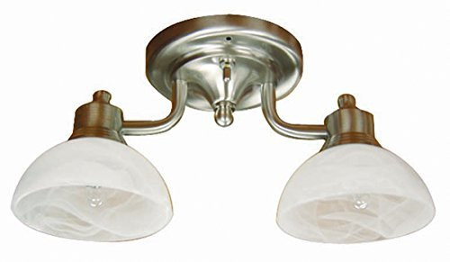 itc-39540s-ni-117-db-2-arm-dinette-light-with-5-round-dome-base-by-itc