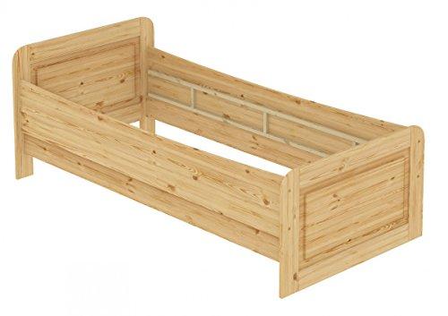Erst-Holz® Seniorenbett extra hoch 100×220 Einzelbett Holzbett Gästebett Massivholz Kiefer 60.42-10-220 oR