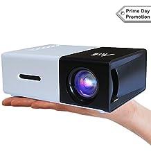 Proyector Para Movil, Artlii Mini vídeo proyector casero portable con la entrada de USB / SD / AV / HDMI para el interfaz del proyector del bolsillo de funcionamiento de TV / Movie /Game / Art / que acampa,Pico Proyector
