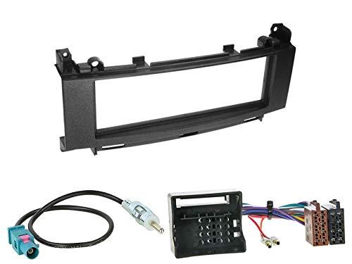 1 Din Radio Einbauset Blende Radioanschlusskabel Antennenadapter für Mercedes B Klasse W245 mit Audio 10