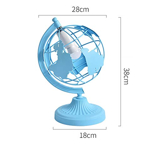 WETRR Macaron Style Table Lamp, Round Globe Night Light 7 Color Available for Kids and Home DecorationEducational Geographic Learning Toy Interior Light,Blue -