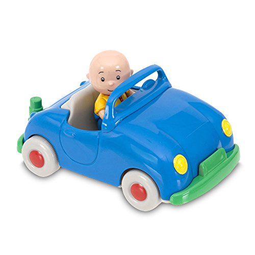Caillou - Pull Back Vehicle with Figure, Blue Color (Giochi Preziosi CAL01000)