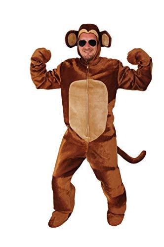 Affe offen Kostüm Eiheitsgrösse XXL Fasching Karneval Junggesellenabschied - Echte Gorilla Kostüm
