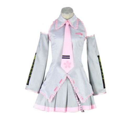 Dream2Reality Vocaloid Family Cosplay Kostuem - Sakura Hatsune Miku 2nd Ver-Silver Kid Size Large