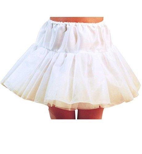KarnevalsTeufel Kinder-Kostüm Petticoat, Kinder-Rock weiß für Ballerinas oder als Unterrock (128)