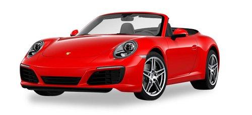 Herpa 028844 Porsche 911 Carrera 2 Cabrio, Fahrzeug, Indischrot