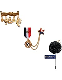 Elegant Formal Set Of Brooches/Lapel Pins For Men By Ambrosia(CH_Pin_25)