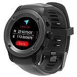 Orologio da running con GPS per Uomo e Donna, Cardiofrequenzimetro, notifiche GPS esterno, Navigatore, compatibile con IOS 8.0 & Android 4.4 e superiori, con 3-4 giorni di attività in stand-by (nero)