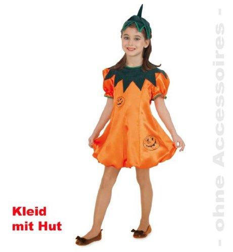 Kürbis Kleid mit Hut Halloween Mädchen Kostüm 2tlg. Gr. (Hexe Twilight Kostüme Mädchen)