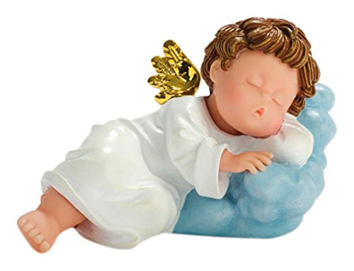 Nadal Figura Decorativa ángel dormilón, Resina, 8.20x14.00x8.50 cm