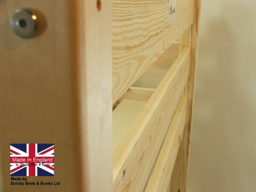 Bunk Bed - 3ft single wooden bunkbed - Solid Natural pine - FAST DELIVERY