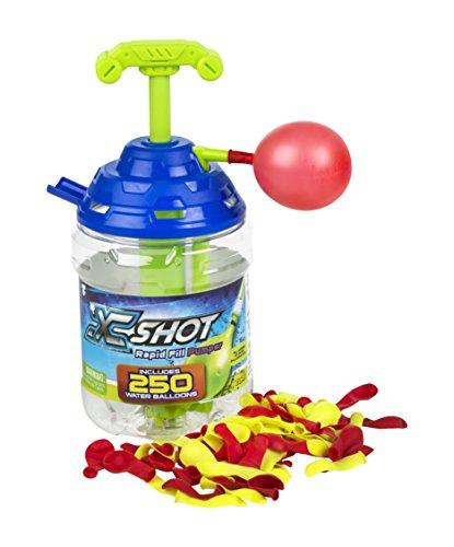 X-Shot-Bunch oder Balloons Eimer 250Luftballons & Adapter Wasserpumpe (COLORBABY 42721)