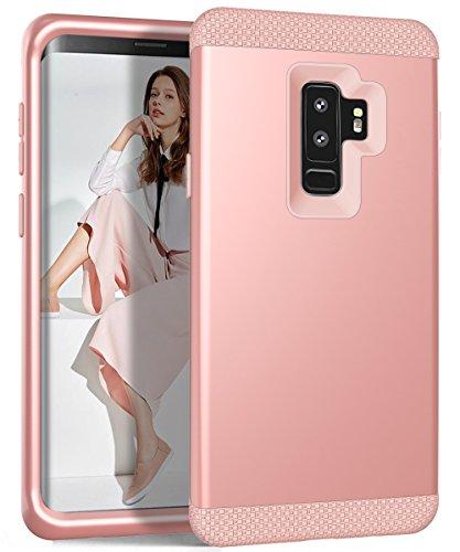 Galaxy S9Plus Case, zaox Drei Schichten Heavy Duty stoßfest Soft Silikon Kratzfest Anti-Fingerprint PC Harte Hybride Schutzhülle für Samsung Galaxy S9Plus, Rose Gold (Mädchen Diamond Supply Co)