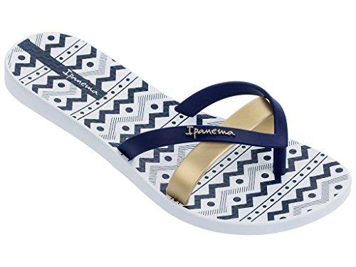 Ipanema 82289, Tongs Pour Femme Multicolore Mehrfarbig One Size weiß-blau (24495)