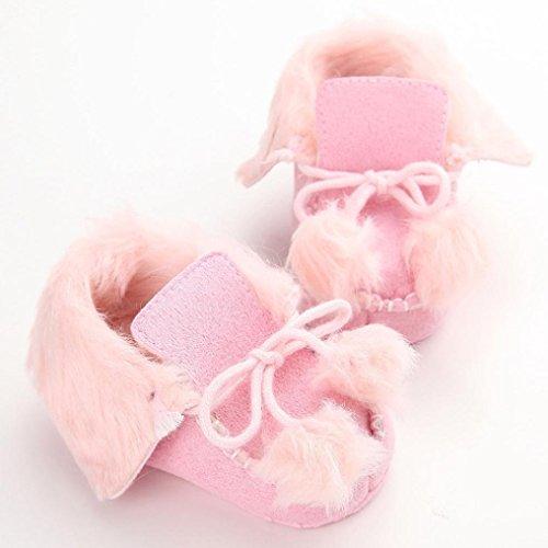 Hunpta Neue jungen Lauflernschuhe Neue nette Coral Anti-Rutsch neuen geboren Baby Halbschuhe Freizeitschuhe (13, Rosa) Rosa