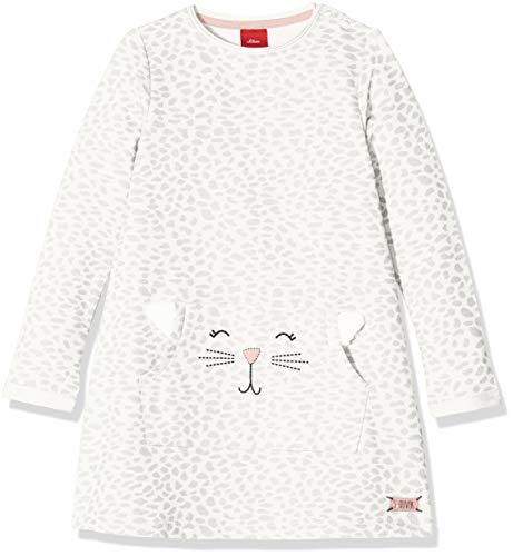 s.Oliver Baby-Mädchen Kleid 65.808.82.2847, Elfenbein (Ecru AOP 02a8), 86