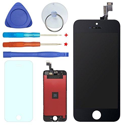 FDAWN Display LCD Touch Screen Completo Digitale Kit Completi Di Sostituzione Per IPhone 5S 4,0″ Inclusa La Protezione Temperata(NERO)