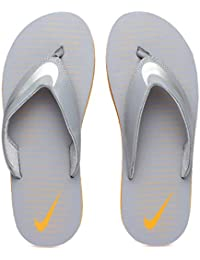 c2e997d46d3b30 Nike Men s Chroma Thong 5 Grey Stealth Chrome-Vivid Orange Flip Flops ( 833808